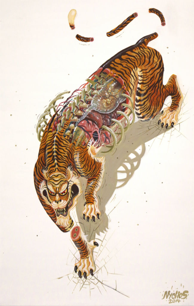 Dissection of mother tiger