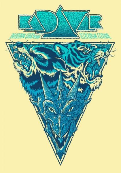 Michael Hacker: Kadaver 2014 blue